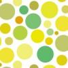 様々な大きさの黄緑色ドット柄パターン