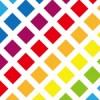 7色の四角が斜めに並ぶグリッドパターン