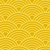金色の青海波パターン