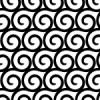 白黒の渦巻き柄パターン