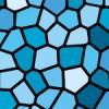 水色のステンドグラス柄パターン