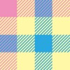 パステルカラーの可愛らしいガンクラブチェックパターン