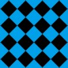 青と黒のハーリキンチェックパターン