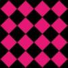 黒とピンクのハーリキンチェック柄パターン