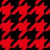 赤と黒のハウンドトゥース(千鳥格子)柄パターン