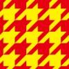 赤と黄色のハウンドトゥース(千鳥格子)柄パターン