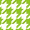黄緑と白のハウンドトゥース(千鳥格子)柄パターン