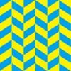 青と黄色のヘリンボーン柄パターン
