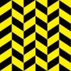 黒と黄色のヘリンボーン柄パターン