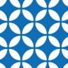 青と白の七宝柄パターン