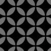 黒色の七宝柄パターン