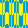水色と黄色の矢絣柄パターン