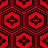 赤と黒の亀甲柄パターン