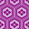 紫色の亀甲柄パターン