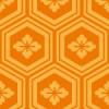 オレンジ色の亀甲柄パターン