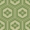 緑色の亀甲柄パターン