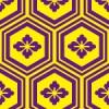 紫と黄色の亀甲柄パターン