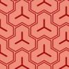 赤色基調の毘沙門亀甲柄パターン
