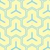 薄い黄色と水色の毘沙門亀甲柄パターン
