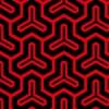 赤と黒の毘沙門亀甲柄パターン