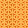 オレンジ色の組亀甲柄パターン