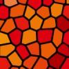 赤色基調のステンドグラス柄パターン