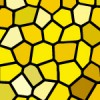 黄色のステンドグラス柄パターン