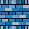2種類の青いレンガブロックイラストパターン