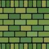 2種類の緑色のレンガブロックイラストパターン