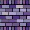 2種類の紫色のレンガブロックイラストパターン