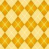 黄色基調の温かみのあるアーガイルチェックパターン