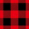 黒と赤のシェパードチェック柄パターン