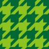 緑色のハウンドトゥース(千鳥格子)柄パターン