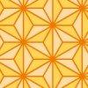 オレンジ色の麻の葉柄パターン