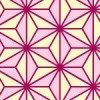 ピンクと黄色の麻の葉柄パターン