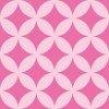 ピンク色の七宝柄パターン