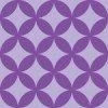 紫色の七宝柄パターン
