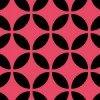 黒とピンクの七宝柄パターン