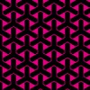 黒とピンクの組亀甲柄パターン