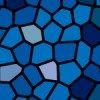 紺色のステンドグラス柄パターン