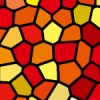 赤と黄色のステンドグラス柄パターン