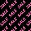 黒い背景にピンク色のSALEの文字が並ぶパターン
