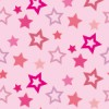 ピンク色の様々な大きさの星が散らばるパターン