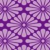 紫色の菊菱柄・和柄のシームレスパターン