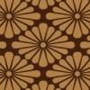 茶色の菊菱柄パターン
