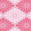 濃淡のあるピンク色の菊菱柄パターン