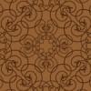 蔦が絡みあったような茶色のアラベスク柄パターン