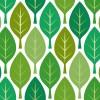緑色の葉っぱのイラストが並ぶパターン