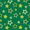 緑色の様々な大きさの星が散らばるパターン