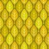 黄色い葉っぱが並ぶイラストパターン